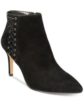 INC International Concepts Women's Tovie Lace-Up Dress Booties, Only at Vogily