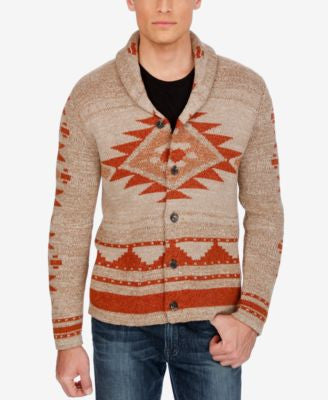 Lucky Brand Men's Aztec Shawl-Collar