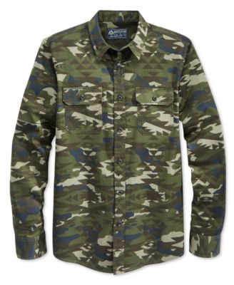 American Rag Men's Long-Sleeve Camo-Print Eli Shirt, Only at Vogily