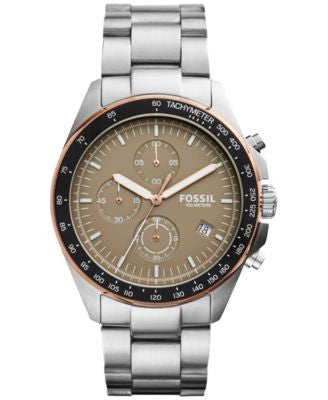 Fossil Men's Chronograph Sport 54 Stainless Steel Bracelet Watch 44mm CH3036