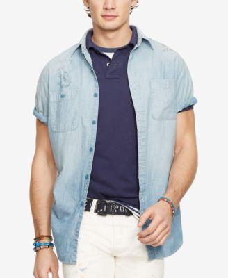Polo Ralph Lauren Men's Nautical Chambray Workshirt