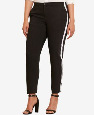 Lauren Ralph Lauren Plus Size Striped Crepe Pants