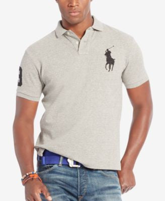 Polo Ralph Lauren Men's Custom-Fit Big Pony Mesh Polo Shirt