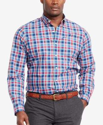 Polo Ralph Lauren Men's Big & Tall Plaid Poplin Shirt