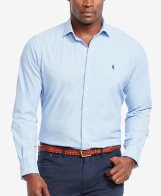 Polo Ralph Lauren Men's Big & Tall Striped Stretch Performance Shirt
