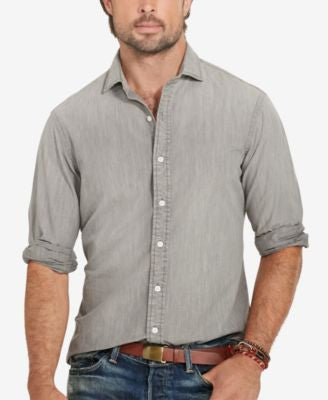 Polo Ralph Lauren Men's Big & Tall Chambray Estate Shirt