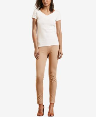 Lauren Ralph Lauren Stretch V-Neck T-Shirt