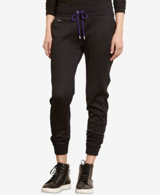 Lauren Ralph Lauren Mesh-Panel French Terry Jogger Pants