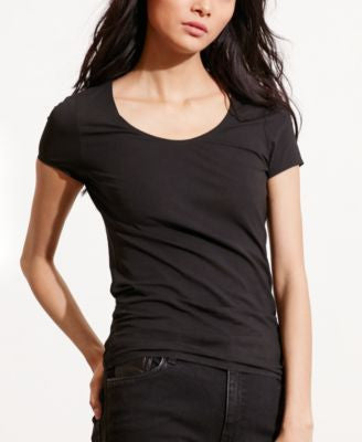 Lauren Ralph Lauren Petite Stretch Scoop Neck T-Shirt