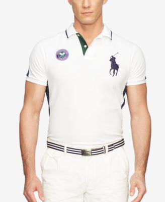 Polo Ralph Lauren Men's Wimbledon Custom-Fit Mesh Polo