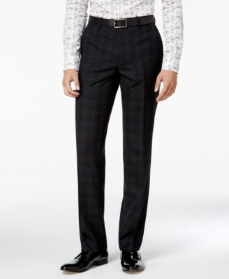 Bar III Men's Slim-Fit Blackwatch Plaid Tuxedo Pants, Only at Vogily