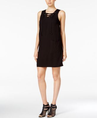 kensie Lace-Up Shift Dress