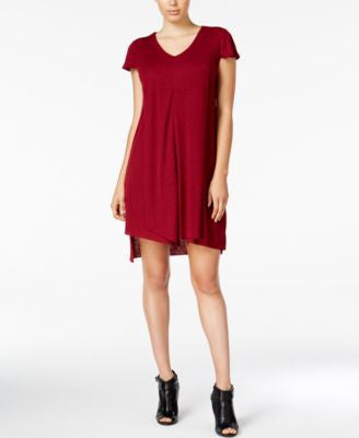 kensie Flutter-Sleeve Asymmetrical-Hem Dress
