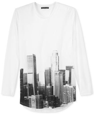 Jaywalker Men's Long Length Long-Sleeve Graphic-Print T-Shirt