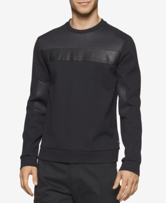 Calvin Klein Men's Mixed Media Ponte Shirt