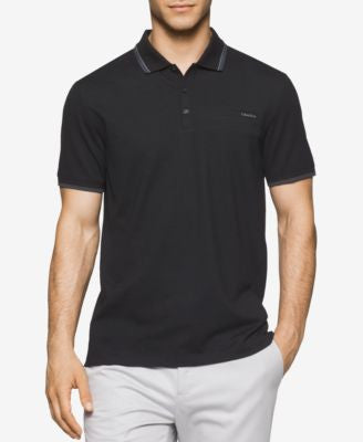 Calvin Klein Men's Stripe-Tip Polo