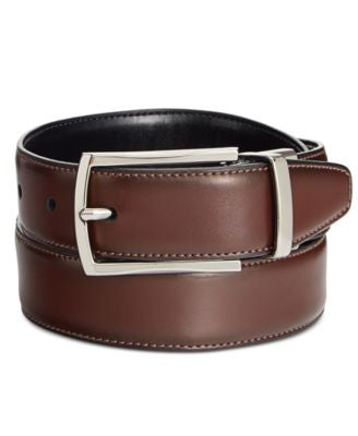 Ryan Seacrest Distinction Men's Feather-Edge Belt, Only at Vogily