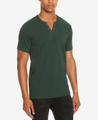 Kenneth Cole Reaction Split V-Neck Henley