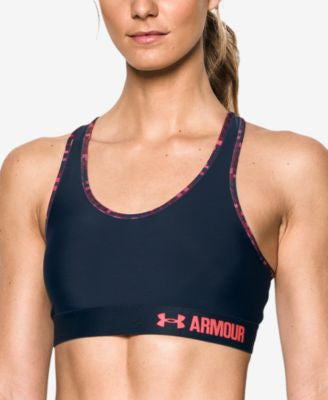Under Armour HeatGear Mid-Impact Sports Bra