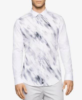 Calvin Klein Men's Long-Sleeve Scatter Shirt