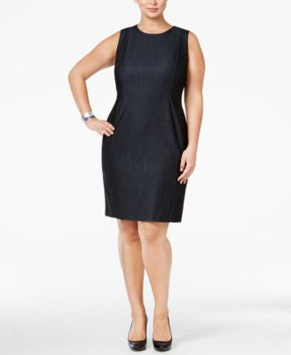 Calvin Klein Plus Size Denim Sheath Dress