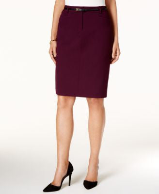 Calvin Klein Petite Belted Pencil Skirt