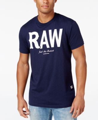 GStar Men's Raw Leacht Graphic-Print Logo T-Shirt