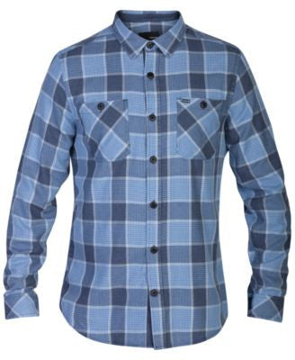 Hurley Men's Long-Sleeve Landon Plaid Shirt