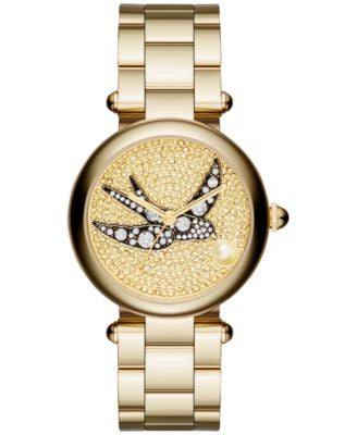 Marc Jacobs Women's Dotty Gold-Tone Stainless Steel Bracelet Watch 34mm MJ3498