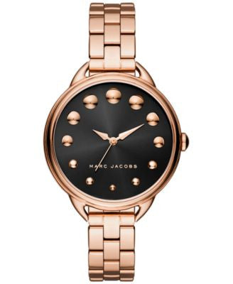Marc Jacobs Women's Betty Rose Gold-Tone Stainless Steel Bracelet Watch 36mm MJ3495