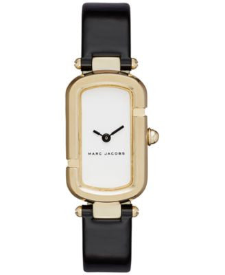 Marc Jacobs Women's North-South Black Patent Leather Strap Watch 20x31mm MJ1487