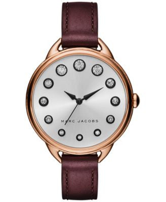 Marc Jacobs Women's Betty Oxblood Leather Strap Watch 36mm MJ1478