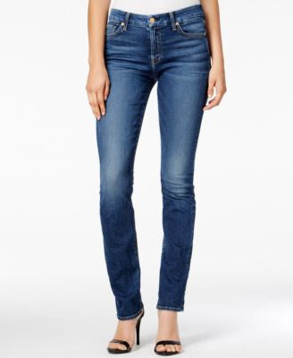 7 For All Mankind Kimmie Medium Melrose Wash Straight-Leg Jeans