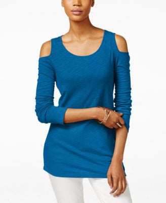 INC International Concepts Petite Cold-Shoulder Top, Only at Vogily