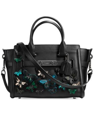 COACH Butterfly Appliqué Swagger 27 Carryall in Glovetanned Leather