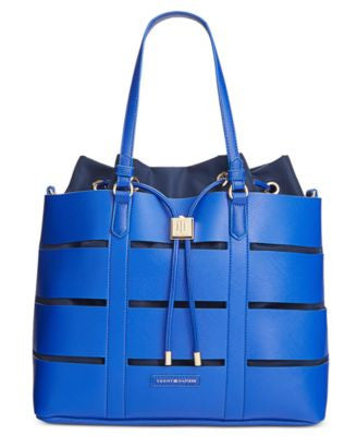 Tommy Hilfiger Double-Sided Saffiano Faux Leather Norah Tote