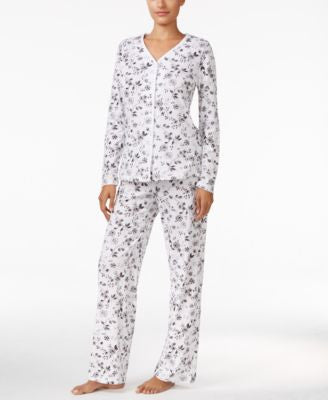 Charter Club Loop-Trimmed Printed Pajama Set, Only at Vogily