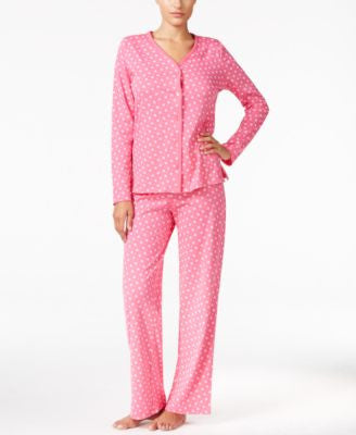 Charter Club Petite Loop-Trimmed Printed Pajama Set, Only at Vogily