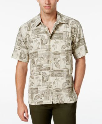 Quiksilver Waterman Men's Oak Harbor Tropical Short-Sleeve Shirt
