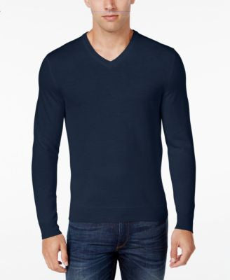 Club Room Men's Merino Wool V-Neck Sweater, Only at Vogily