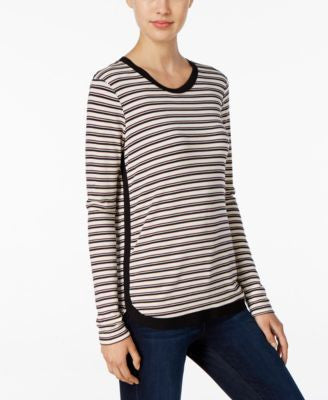 Kut from the Kloth Striped Long-Sleeve Top