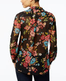 Kut from the Kloth Floral-Print Surplice Top