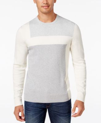 Alfani Men's Lightweight Colorblocked Knit Sweater, Regular Fit