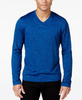 Alfani Men's Performance Long-Sleeve Shirt, V-neck