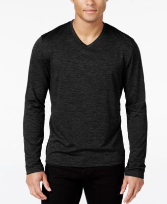 Alfani Men's Big & Tall Performance V-Neck Long-Sleeve T-Shirt, Only at Vogily