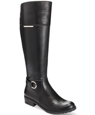Alfani Women's Jadah Tall Wide-Calf Riding Boots, Only at Vogily