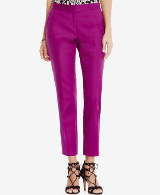 Vince Camuto Front-Zip Ankle Pants