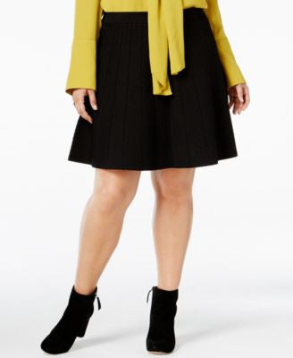 RACHEL Rachel Roy Curvy Plus Size Fit & Flare Sweater Skirt