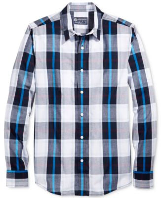 American Rag Men's Beca Plaid Long-Sleeve Shirt, Only at Vogily