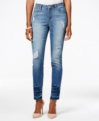 Earl Jeans Ripped Medium Wash Skinny Jeans